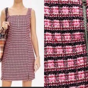 Topshop Zip Front Pinafore Dress
